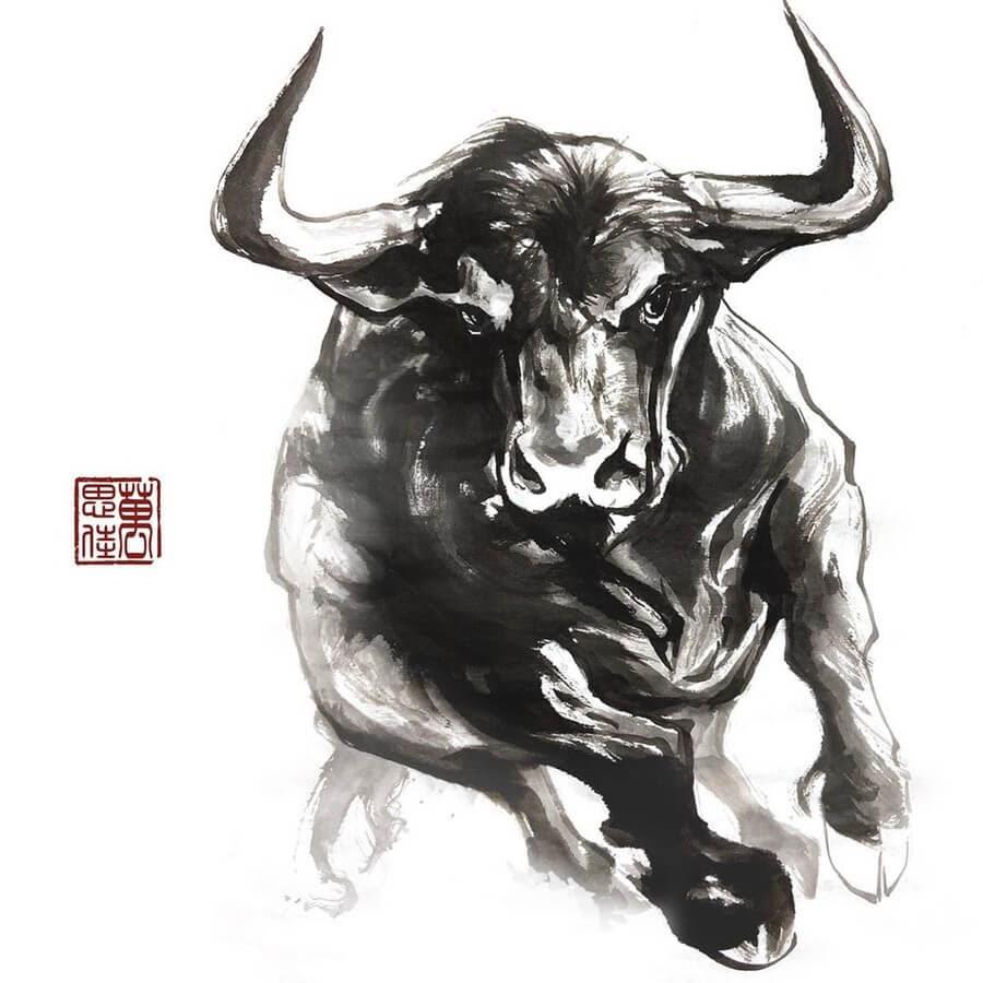 03-Bull-Charging-Dirk-Swan-www-designstack-co