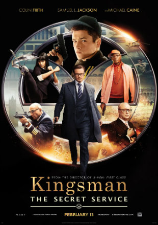 Kingsman The Secret Service 2014 Hindi Dual Audio 300mb Movie DVDScr Download