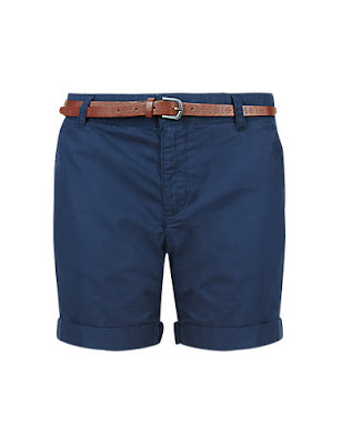 Marks & Spencer Pure Cotton Chino Shorts WIth Belt