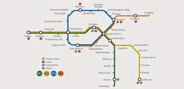 Resultado de imagen de plano transporte copenhague