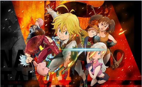 Nanatsu no Taizai - Daftar Anime Fantasy Terbaik Sepanjang Masa