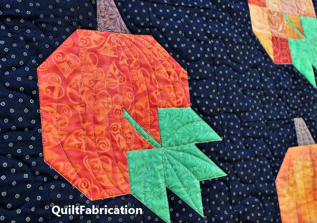 solid pumpkin quilting design