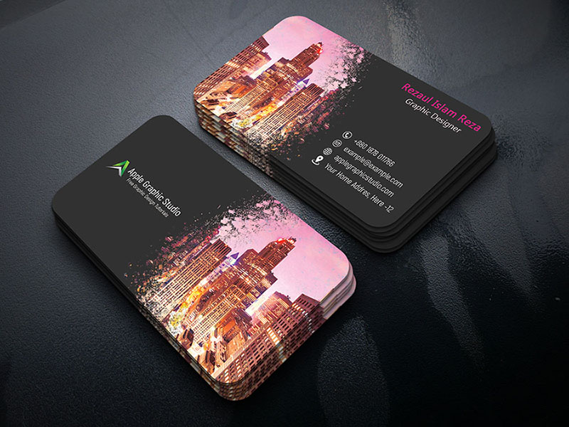Paint Splash Business Card Design Tutorial In Photoshop - Apple ...