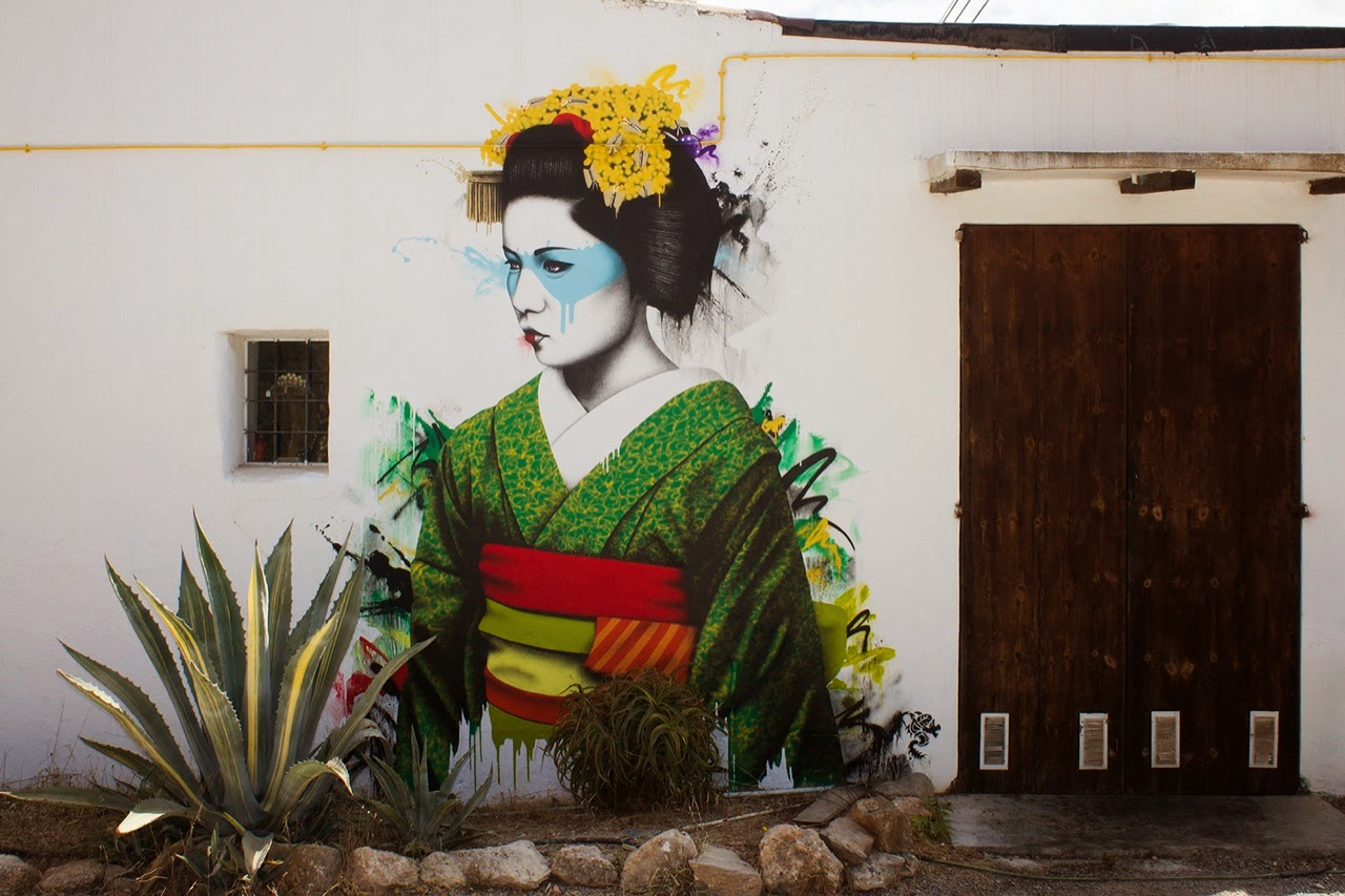 Fin DAC is once again back on the island of Ibiza in Spain where he was invited to paint for the Urban In Ibiza event.