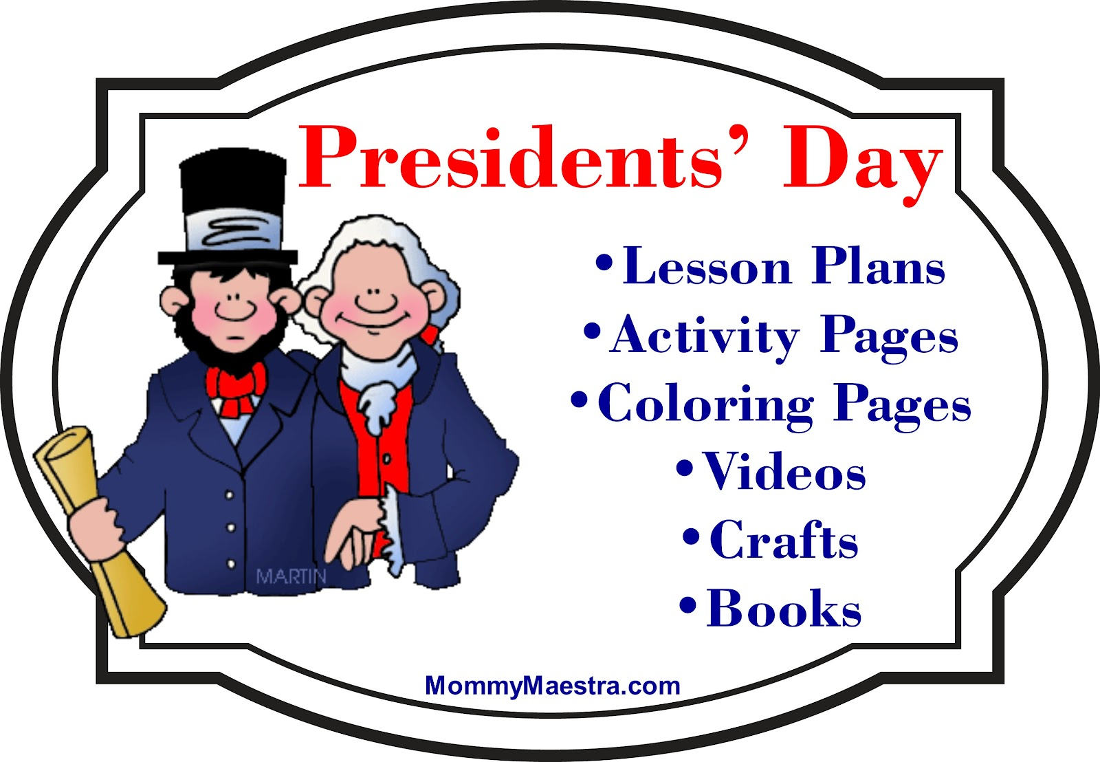 Mommy Maestra Presidents Day Activities Coloring Pages Books And More