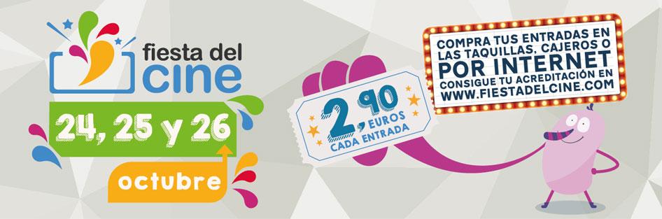 La fiesta del cine vuelve del 24 al 26 de octubre, entradas a 2,90 euros