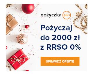 Reklama świątecznej promocji firmy Pożyczka Plus