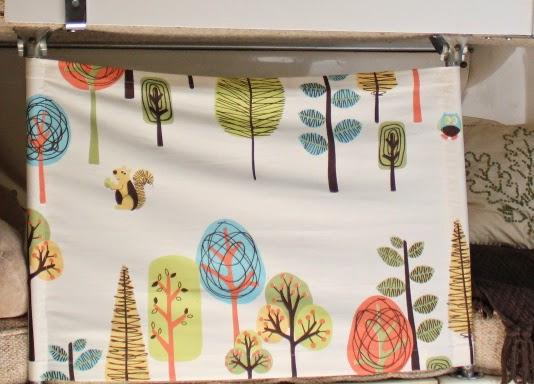 Curtain for lower bunk in our Fiberglass U-haul (uhaul) Camper