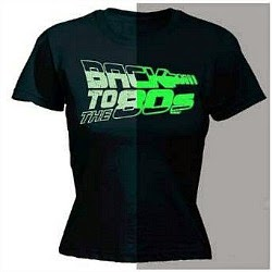 Back To The 80s glow in the dark T-shirt for men