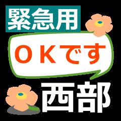 Emergency use.[seibu]name Sticker