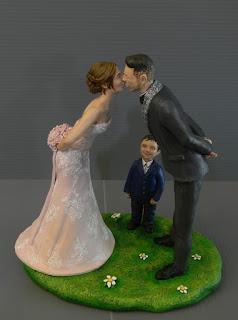 sposini torta bacio cake topper figlio bambina sorriso orme magiche