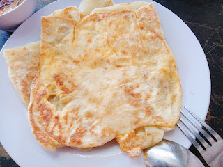 Flipped over and took picture of the Roti Telur Bawang