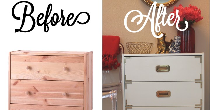 Turquoise & Gold: DIY Campaign Chest IKEA Hack