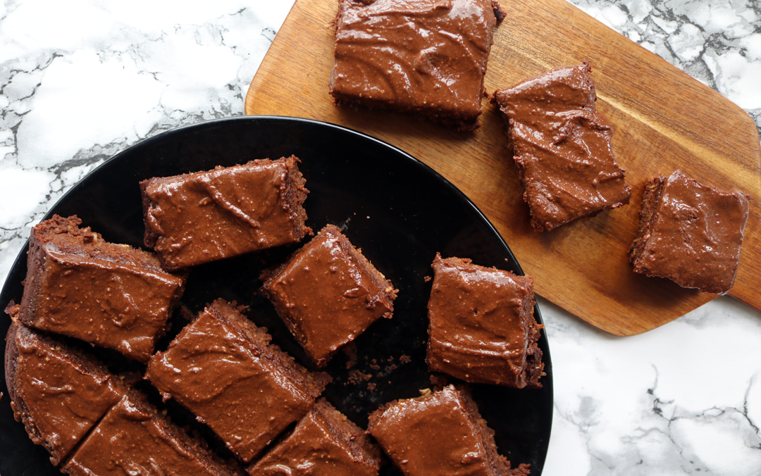 The Best Sweet Potato Brownies with Chocolate Frosting (Deliciously Ella Vegan/Dairy-Free recipe)