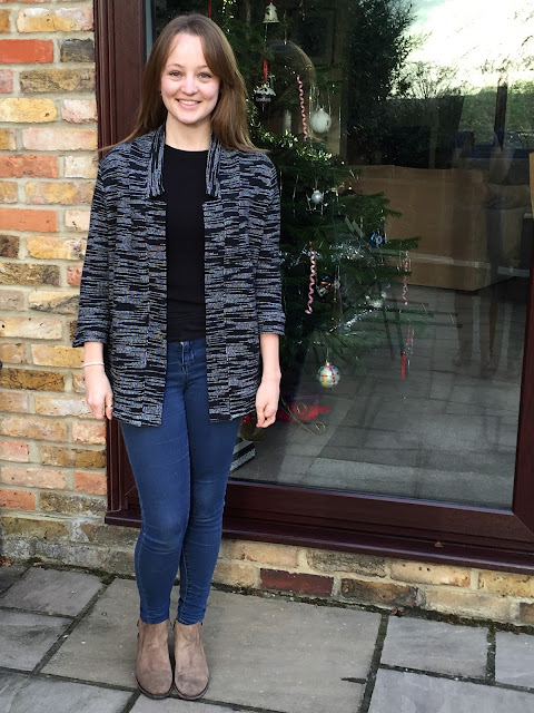Diary of a Chain Stitcher: By Hand London Victoria Blazer in Derek Lam Cotton Knit from Mood Fabrics