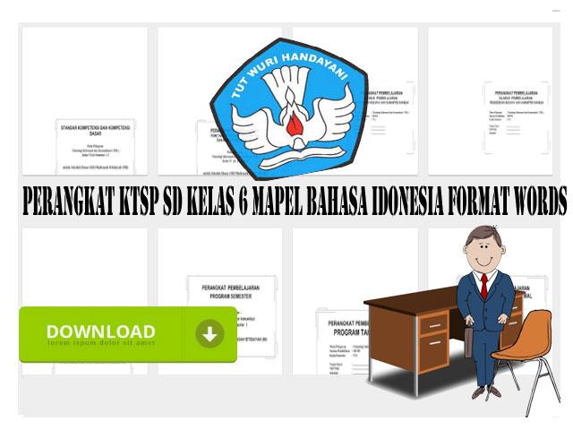 Perangkat KTSP SD Kelas 6 Mapel Bahasa Idonesia Format Words