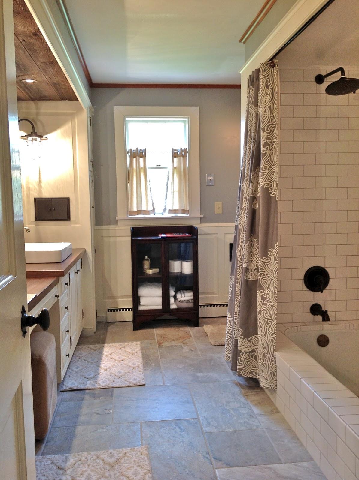 route 2 rural: Farmhouse Bathroom Remodel -- Done! on Farmhouse Shower Ideas  id=64337