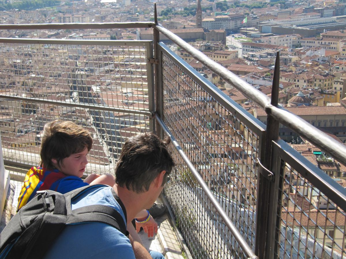vistas desde cupula de catedral de florencia, cupula Brunelleschi