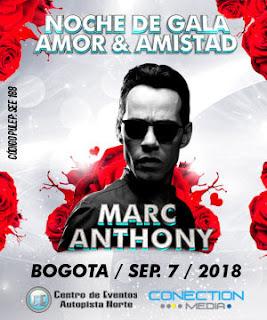 Concierto de MARC ANTHONY en Bogotá 2018