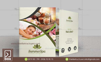 Brochure Spa | Thiết kế - In - Giao trọn gói.