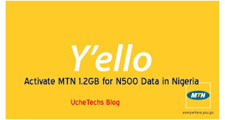 Activate MTN 1.2GB for N500 Data in Nigeria