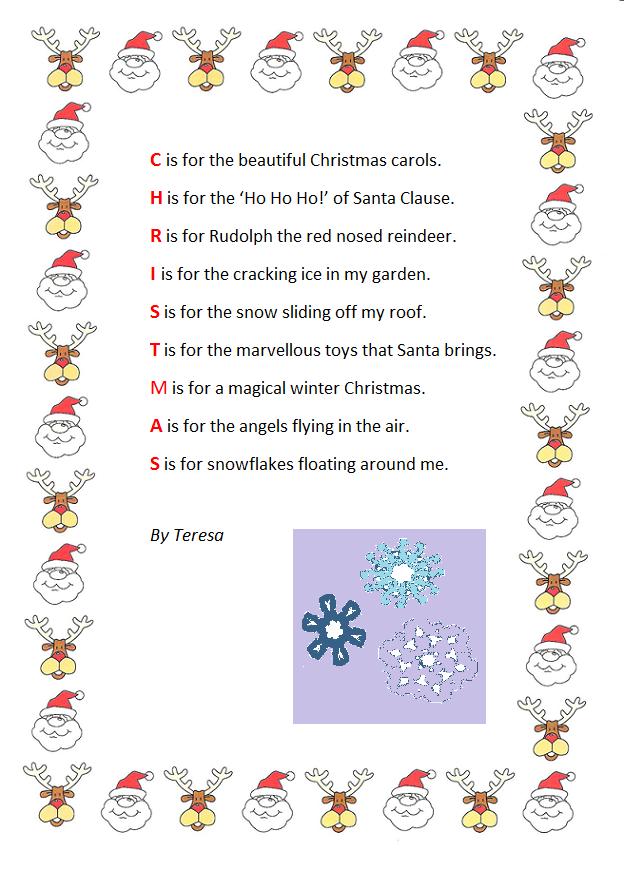 Y4 At Ist Christmas Acrostic Poem