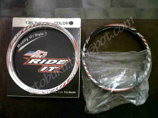 Velg Ride It Black Depan Belakang