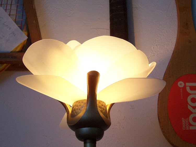 Night Garden Blog: lampshade re - do ( with upcycled milk ...