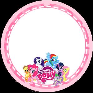 Toppers o Etiquetas de My Little Pony para imprimir gratis.