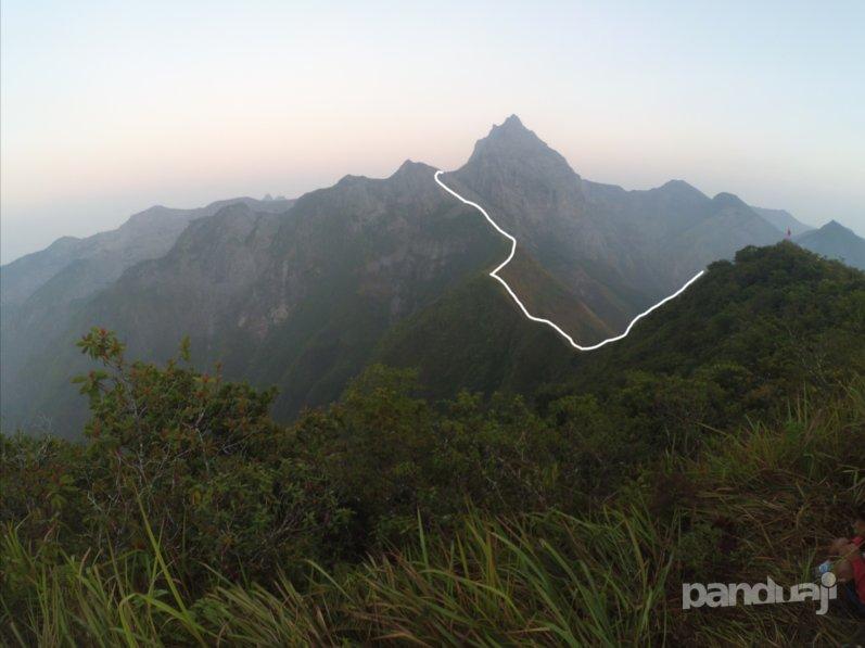 Track ke puncak gunung kelud