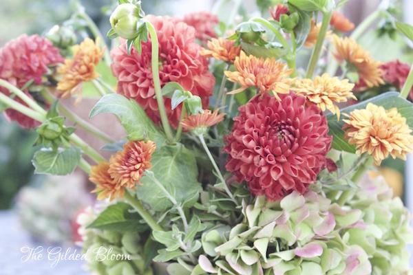 Styling an Autumn Garden Floral- www.gildedbloom.com