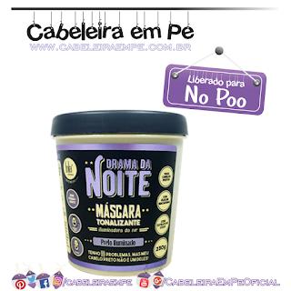 Máscara Tonalizante Drama Da Noite Máscara Tonalizante - Lola Cosmetics (No Poo)