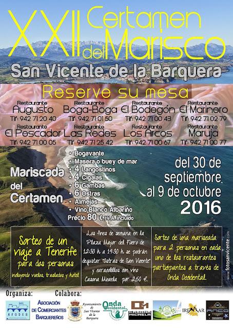 XXII Certamen del Marisco en San Vicente de la Barquera