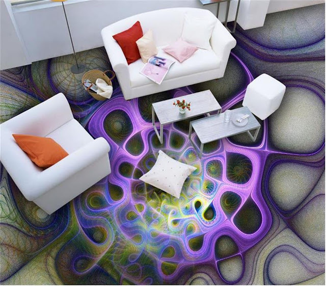 epoxy 3d floor murals for modern living room designs 2017