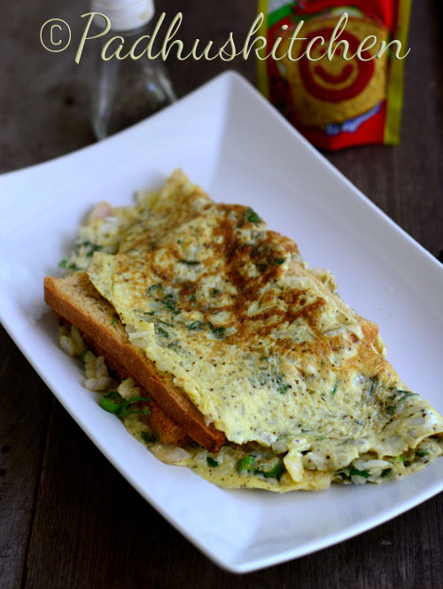 Bread Omelet Street Food