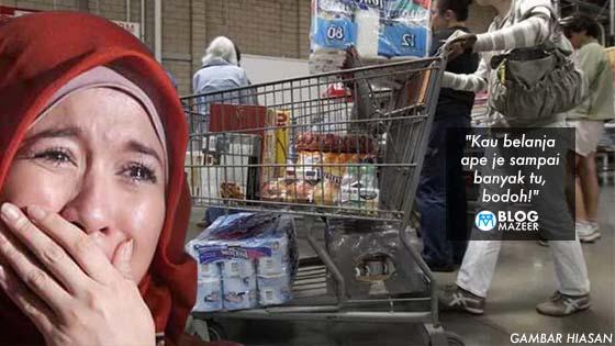 Beli Barang Keperluan Melebihi Bajet, Suami Tengking Isteri Di Tempat Awam