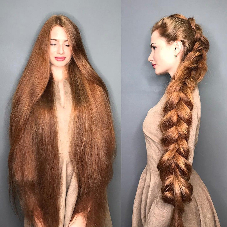 Rambut panjang dan indah mirip rapunsel wanita Rusia