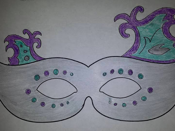 Mardi Gras Printable Mask + Activity Ideas