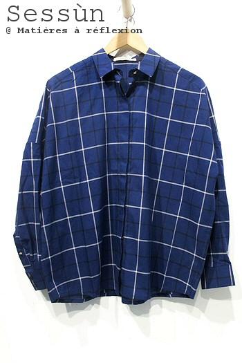 Sessùn chemise bleu nuit