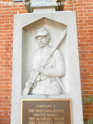 Company K First Pennsylvania Reserves Monument in Gettysburg