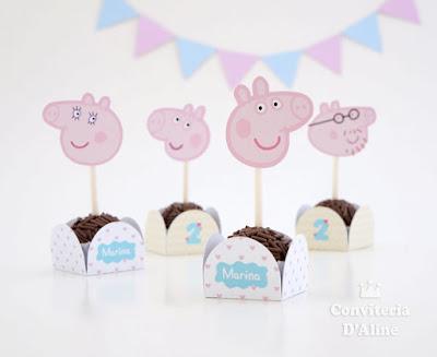 peppa pig forminha topo topper decoracao festa aniversario