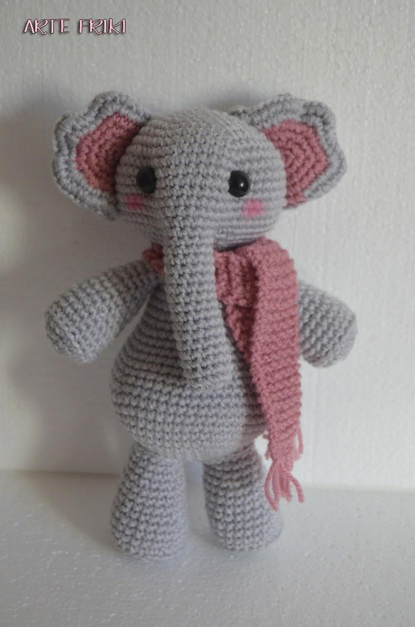 Uncinetto Amigurumi Elefante : Elefante Amigurumi - Arte Friki