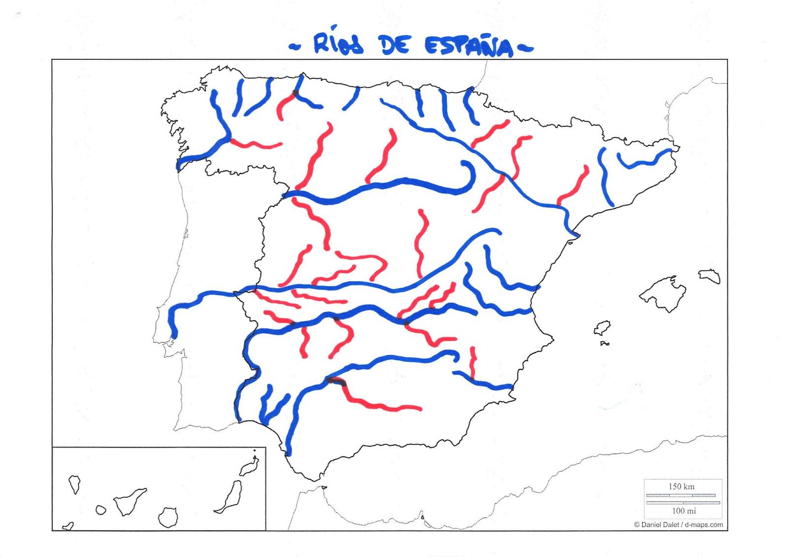 Mapa Rios De España 6 Primaria.Mapas Rios De Espana Planeta Educarex