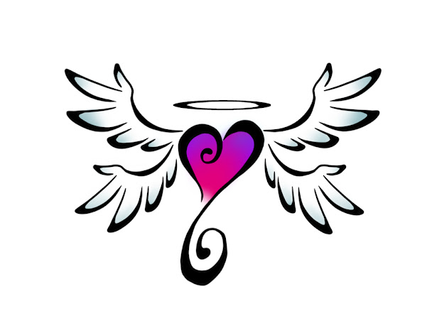 Coloring Pages Of Hearts With Wings  Coloring Pages  Pictures