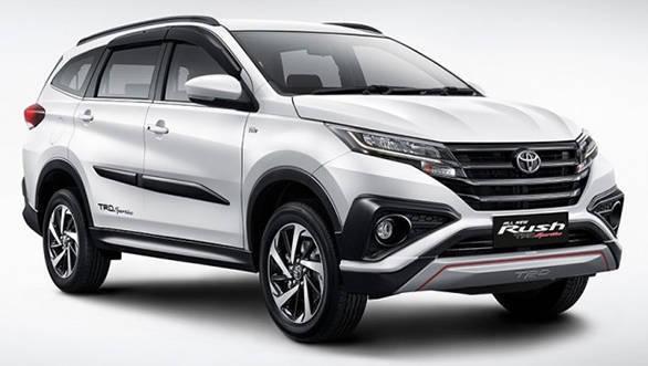 New 2018 Toyota Rush SUV white color image