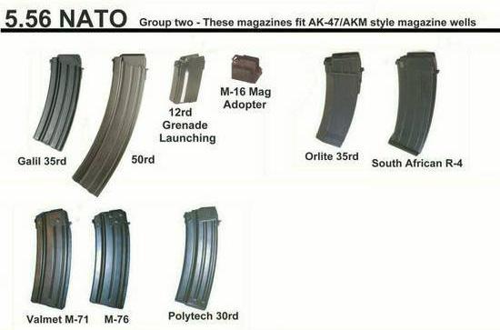 Магазины для автомата Калашникова под патрон 5.56 НАТО