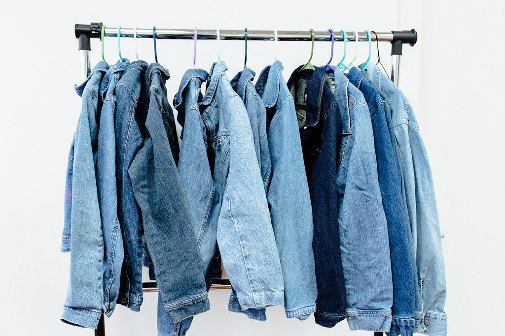 denim jackets, thrifted, jean jackets