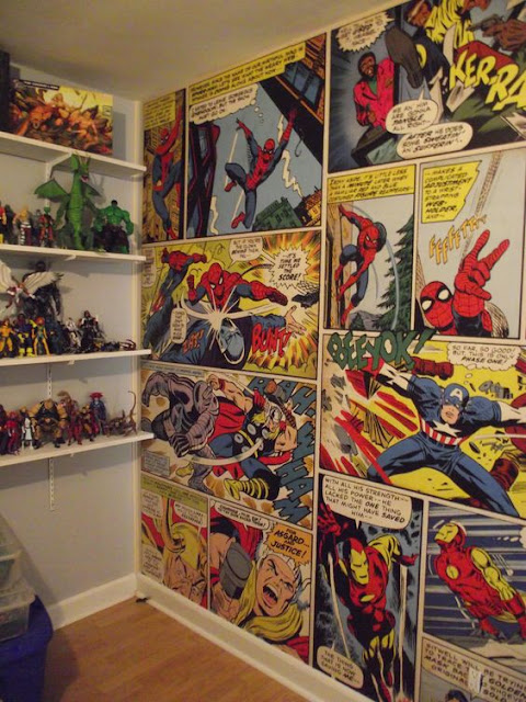 Marvel Wall Mural Comics Strip