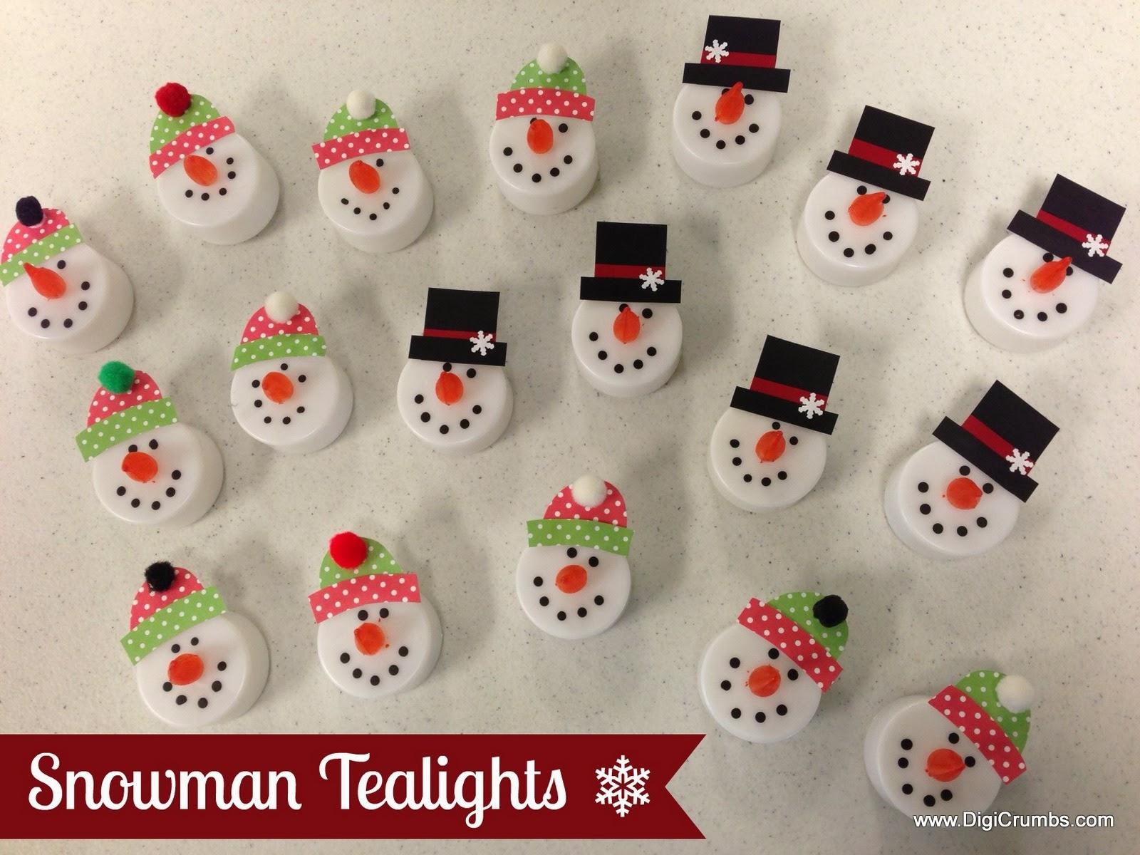 Digicrumbs Snowman Tealights Makes A Cute Ornament Magnet Pin
