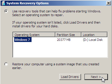 create system repair disc windows - system a image